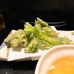 いざかやこばん - 春菊の天ぷら