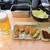 ヨネヤ - 料理写真:「串カツ盛り合わせ&生中セット」」(980円込)(2020年1月)