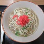 なかま食堂 - 卓上の紅しょうがオン