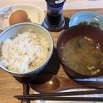 カフェ・ド・あじゅーる - 料理写真:たまごかけごはん セット