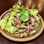 CHOMPOO - サラダ①:ムーナムト(豚のスパイシーサラダ)