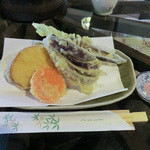 三次郎 - 野菜天(300円)_2012-03-30