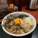 麺房 八角 - 冷やし納豆そば(大盛)