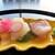 日本料理 なにわ - 料理写真:<お造り>愛媛産の鯛・鹿児島産のカンパチ