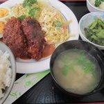腹八分 めぐみ - 「マカロニコロッケ定食」800円