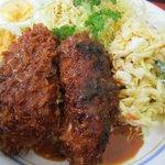 腹八分 めぐみ - マカロニコロッケ定食の正体は…クリームコロッケ&マカロニサラダ