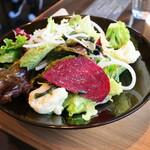 Famazugadenkafeomuretto - 120gのベースのサラダ+5種類の選べるサラダ