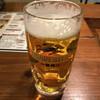 もつ番長 - ドリンク写真:生ビール中580円はキンキンに冷えて美味い!