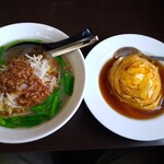 玉膳楼 - 料理写真:台湾ラーメン+天津飯セット 780円