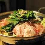 炭焼き やながわ - 松阪牛炙りモツ鍋