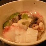 刺身居酒屋 海鮮丸 - 「酢の物盛り合わせ」(これもなかなか良かったです。)