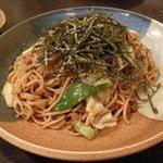 刺身居酒屋 海鮮丸 - 「辛味噌焼きそば」(美味しかったです。家でも作りたい感じの味。)