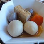 伊豆中ばんばん食堂 - 定食セットの野菜の煮物