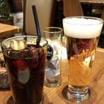 クラフトビールタップ - HBラガー(850円) &アイスコーヒー(450円)