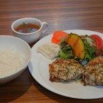 絆 - ランチメニュー:鶏のグリル(ハーブ&ペッパー)ライス&スープ付き 3/31再訪時