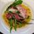 イタリアンダイニング ザサウス - ペペロンチーノ 生ハム、ルッコラ、グラナパダーノチーズ 自家製レモンオイル