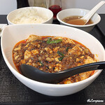 123014651 - 四川麻婆豆腐、ライス、スープ