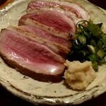 酒呑蕎食〆タグル - 鴨肉のたたき