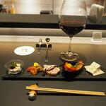 パフェ、珈琲、酒、佐々木 - 堪能コース(肴:気まぐれの一皿)