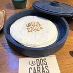 LAS DOS CARAS MODERN MEXICANO Y TACOS - 【チキンファヒータ】用のトルティーヤが3枚