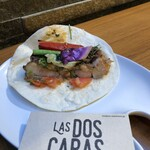 LAS DOS CARAS MODERN MEXICANO Y TACOS - 【ファヒータ】を自分で【トルティーヤ】に包む 欲張るとグダグダになる