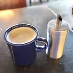 コマザワ パーク カフェ - セットカフェオレ440円