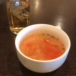 123031651 - ランチメニューのスープ。
