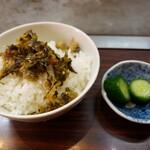 まる福 - 高菜ご飯