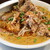 永吉 - 料理写真:でか肉担々麺,味たまご,パクチー(トッピング品,別皿提供)
