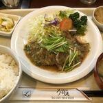123051661 - ♪ガーリックロース定食¥900
