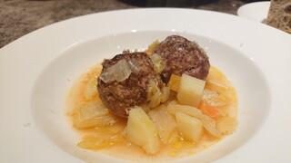 コントルノ食堂 - 本日のスープ→ポルペッタのミネストラ