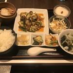 天津飯店 - 回鍋肉の料理セット
