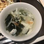 天津飯店 - スープ
