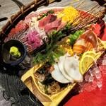 あぶり料理の権十楼 - 鮮魚3種盛り 1408円