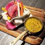 あぶり料理の権十楼 - 季節野菜のバーニャカウダ 1408円