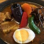 スープカレーハウスしっぽ - 料理写真:彩り鮮やかなカレーでした