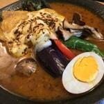スープカレーハウスしっぽ - 料理写真:グリルドチキンカレー w/焼チーズ