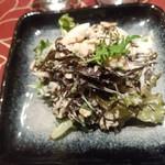 地方の肴とおもてなし 「庵」 - 幻の二日ひじきとツナのサラダ