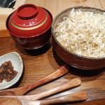 地方の肴とおもてなし 「庵」 - いわし削り節飯