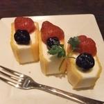味彩 - コースのデザート