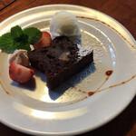 AGカフェ - 栗のガトーショコラ(本日のデザート)