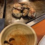 ぼてふく - 牡蠣焼きは、酢だれで♪