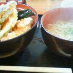 丸福 - 天丼と小温そば