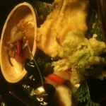 12309041 - 松前つけ ふきのとう天ぷら 黒豆
