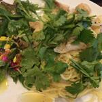 アンティカ オステリア ゴンドレッタ - ランチ つぶ貝とパクチーのパスタ