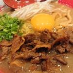 東大 - 肉増しラーメン 無料の生玉子追加 900円
