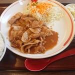 めん王  - 生姜焼ライス