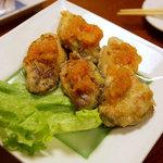 味彩 - カキ焼きポン酢600円。