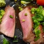 鉄板台所 かちゃぐり屋 - 牛タンのステーキ