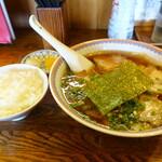 中華・麺や あじよし - チャーシューワンタン麺+小ライス